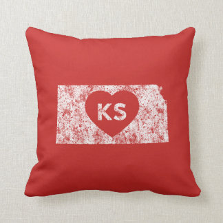 Used I Love Kansas State Pillow