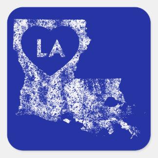 Used I Love Louisiana State Stickers