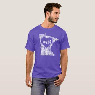 Used I Love Minnesota State Men's Dark T-Shirt