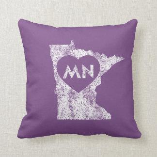 "Used I Love Minnesota State Throw Pillow 16"" x 16"""