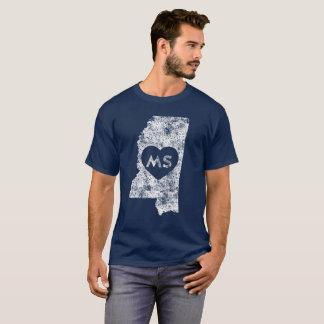 Used I Love Mississippi State Men's Dark T-Shirt