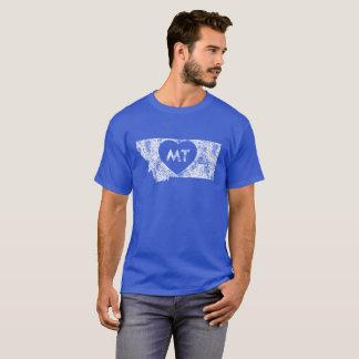 Used I Love Montana StateMen's Basic Dark T-Shirt