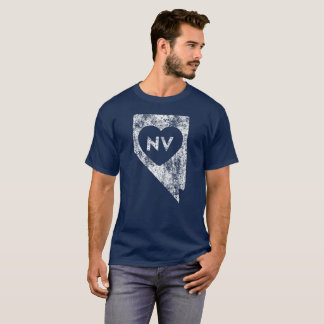 Used I Love Nevada State Men's Basic Dark T-Shirt