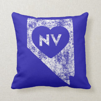 Used I Love Nevada State Throw Pillow