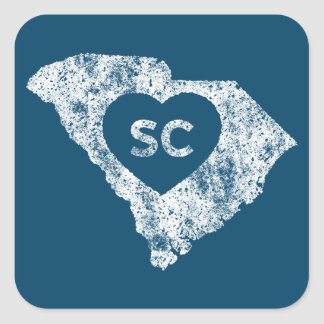 Used I Love South Carolina State Stickers