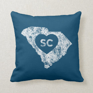 Used I Love South Carolina State Throw Pillow