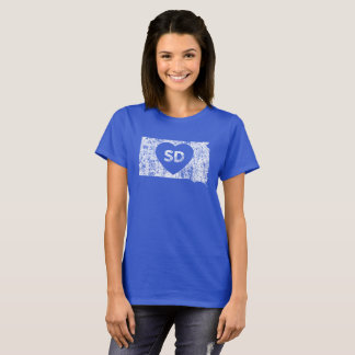Used I Love South Dakota State Women's T-Shirt