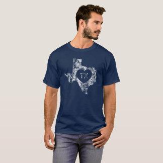 Used I Love Texas State Men's Basic Dark T-Shirt