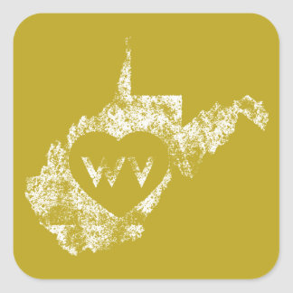 Used I Love West Virginia State Stickers