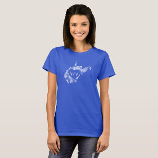 Used I Love West Virginia State Women's T-Shirts