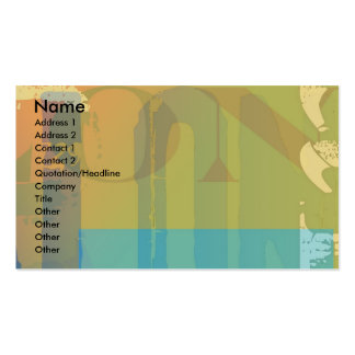 Used letters pack of standard business cards