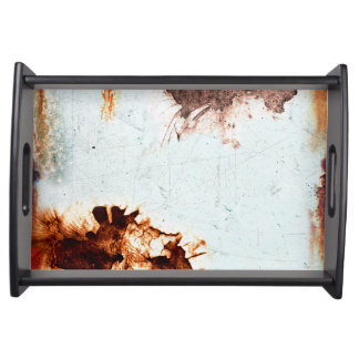 used look serving tray