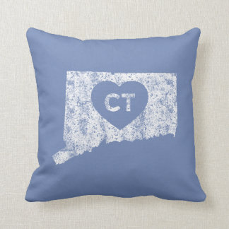 Used Love Connecticut State Throw Pillow