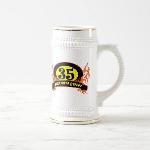 Used Parts 35th Birthday Gifts Coffee Mugs