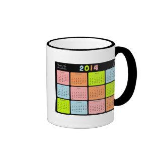 Useful gift with calendar for 2014 coffee mug