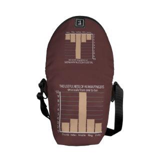 Usefulness of Fingers custom color messenger bag
