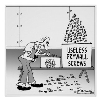 Useless Drywall Screws Poster