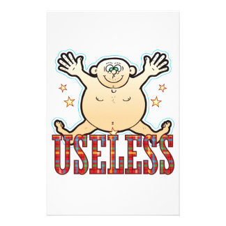 Useless Fat Man Customized Stationery
