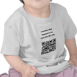 Useless QR Code I Wonder Shirt