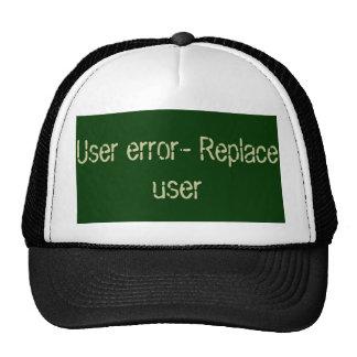 User error code cap