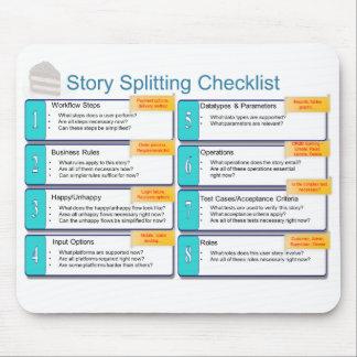 User Story Splitting Checklist Mouse Mat