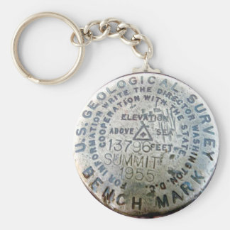 USGS survey marker Basic Round Button Key Ring