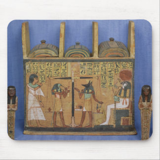 Ushabti casket with a scene of psychostasis mouse pad
