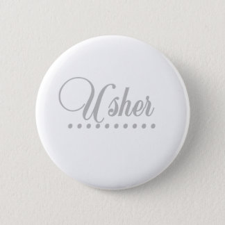Usher Gray Elegance 6 Cm Round Badge