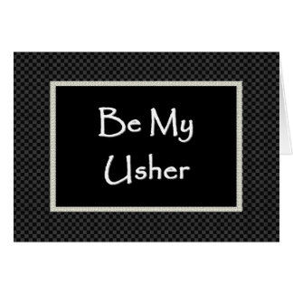 USHER Invitation  with Checked Border Cards