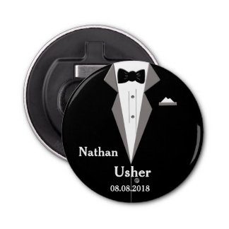 Usher Personalise Wedding Bottle Opener