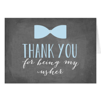 Usher Thank You | Groomsman Card