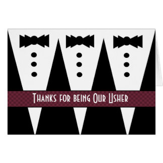 USHER Thank You - Three Tuxedos - Customizable Card