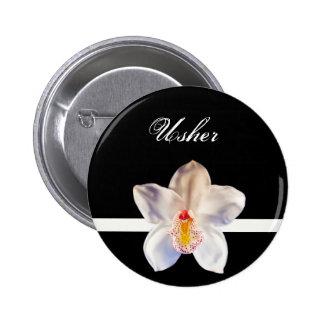 Usher Wedding ID Badge Pin