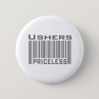 Ushers Priceless 6 Cm Round Badge