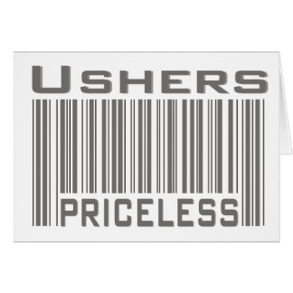 Ushers Priceless Greeting Card