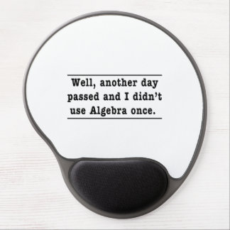 Using Algebra Gel Mouse Pad