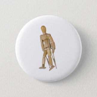 UsingCrutches013110 6 Cm Round Badge