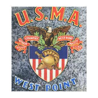 USMA West Point Seal Scene Canvas Print