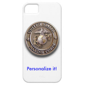 USMC 3D Brass Seal iPhone 5 Case