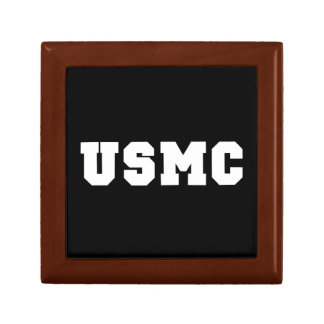 USMC [bold text] Small Square Gift Box