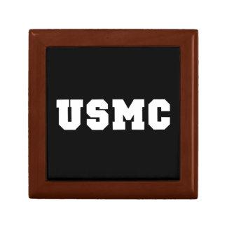 USMC [bold text] Small Square Gift Box