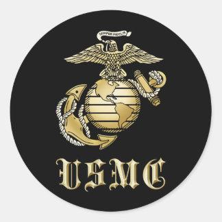 USMC CLASSIC ROUND STICKER