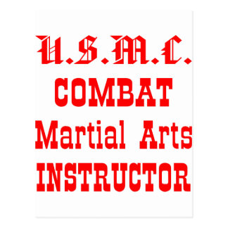 USMC Combat Martial Arts Instructor Postcard