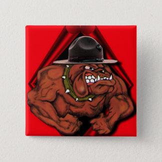 USMC Devil Dog 15 Cm Square Badge
