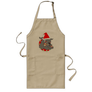USMC Devil Dog Christmas Long Apron
