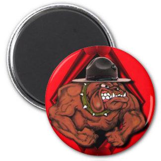 USMC Devil Dog 6 Cm Round Magnet