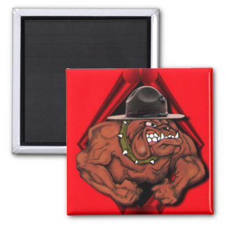USMC Devil Dog Square Magnet