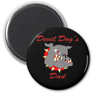 USMC Devil Dog's Dad 6 Cm Round Magnet