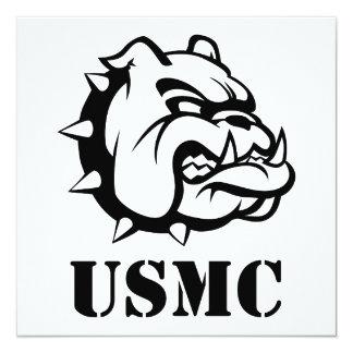 USMC Dog 13 Cm X 13 Cm Square Invitation Card