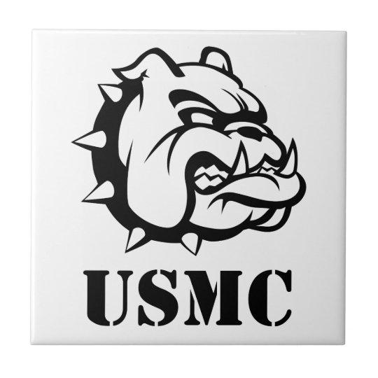USMC Dog Small Square Tile